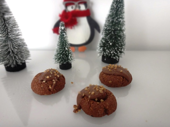 chocolate cookies with hazelnut