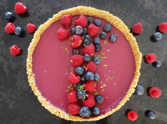 berry coconut tarte